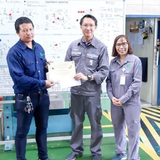 แจกรางวัลพนักงานดีเด่นเดือน ตุลาคม 62 ประจำ TPRC นายบำรุง สงสาร บริษัทฯ ขอแสดงความยินดี และขอบคุณที่