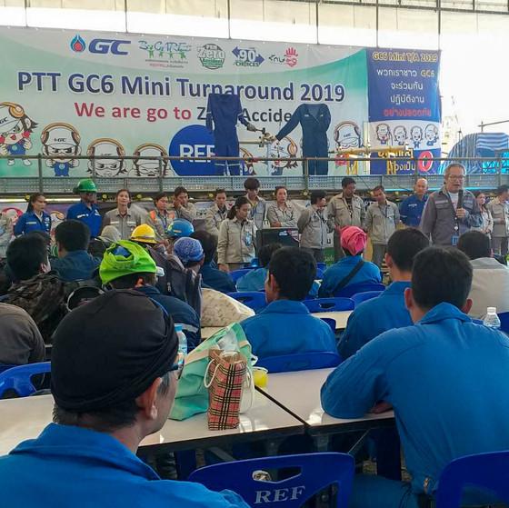 ร่วม SAFETY TALK กับหน่วยงานME ในงาน T/A PTT GC6