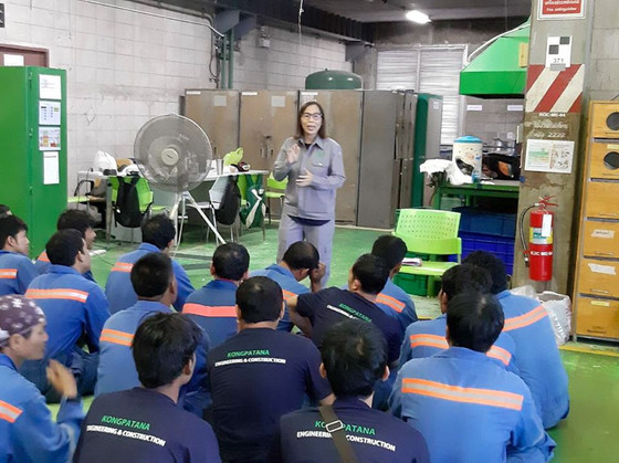Safety Talk พนักงานประจำ ROC และแจกรางวัลพนักงานดีเด่น