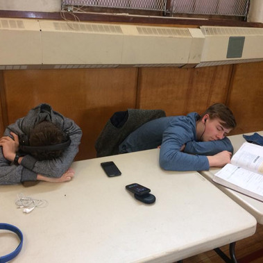 SFHS Cantando Apr 2018 - Trying to study between festival sessions but perhaps too tired.jpg
