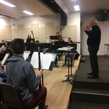 SFHS Concert Band with Dr Larry Gookin Distinguished Professor and Emeritus Professor of Music at Central WAU in Ellensburg WA.jpg