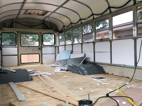 Rou Bus- Day 98: Insulation and subfloor
