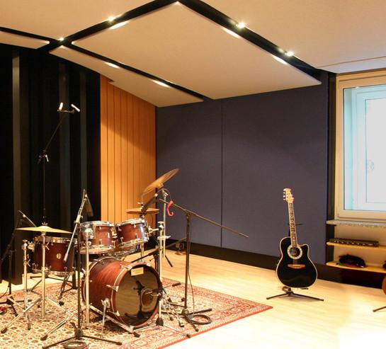 MUSIC FACTORY Aufnahmeraum mit Diffus
