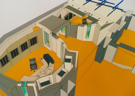 MSM CAD-Schnitt duch beide Studios