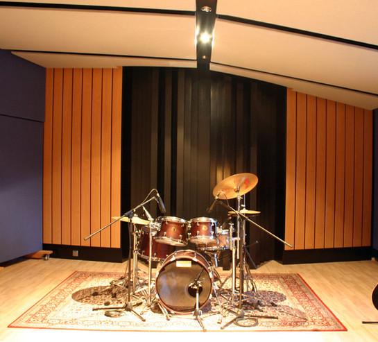 MUSIC FACTORY Aufnahmeraum mit Diffusor