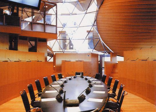 PARISER PLATZ 3      Großer Konferenzsaal im ausgebauten Zustand