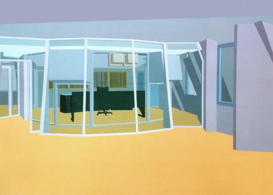 NUCLEUS Aufnahmeraum, CAD Glasfront
