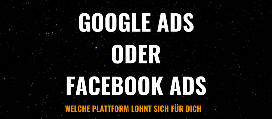 Google Ads oder Facebook Ads