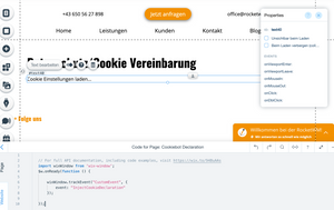 Code auf Wix Website