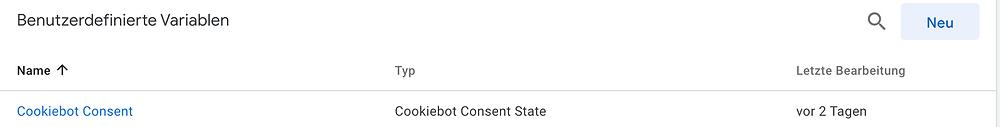 Cookiebot Consent