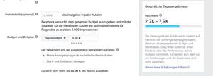 Facebook Werbung Reichweite für lokale Unternehmen