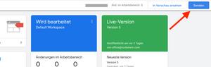 Google Tag Manager aktualisieren