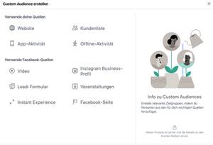 Custom Audience im Facebook Business Manager erstellen