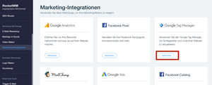 Google Tag Manager Integration bei Wix