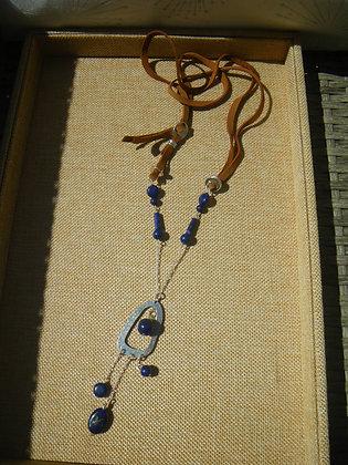 Sautoir Lapis Lazuli Azteque
