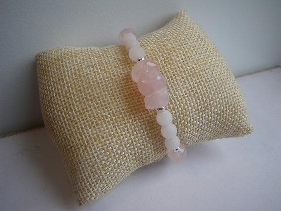 Bracelet Quartz Rose & Fumé