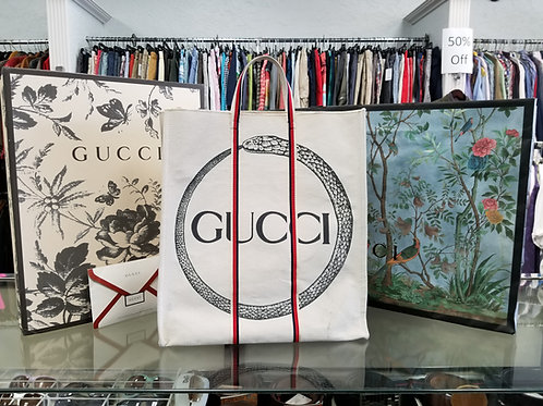 Gucci Ouroboros Canvas Tote Bag