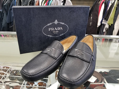 Prada Black Full Grain Loafer -Size 11