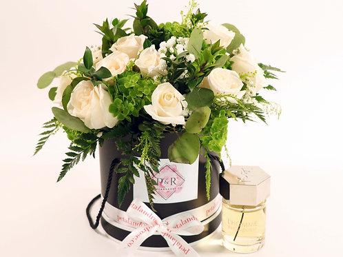 Organic Cream Roses in Small