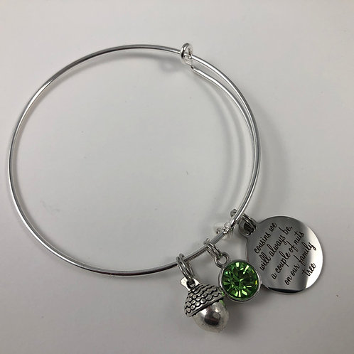 Nutty COUSINS Expandable Bangle Bracelet