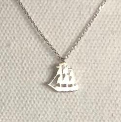 Mini Three-Masted Ship Necklace
