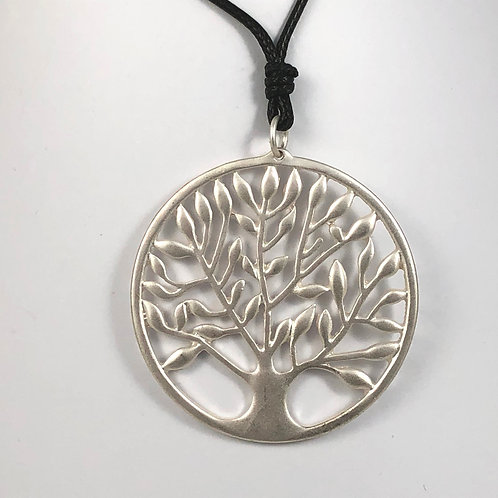 """Tree of Life Faux Leather 18"""" Necklace"""