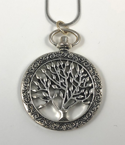 Pocket Watch inspired Tree of Life Necklace