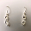 Thumbnail: Sterling Silver Mini DNA Helix Earring