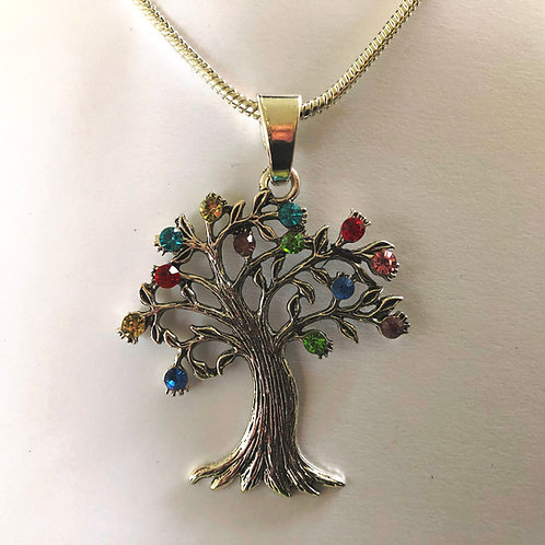 "Large Bling Tree of Life 24"" Necklace"