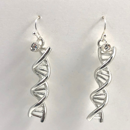 DNA Helix and Bling Earrings