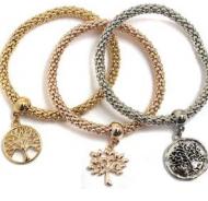 Metallic mesh stretchy bracelet