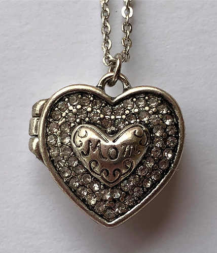 MOM locket necklace