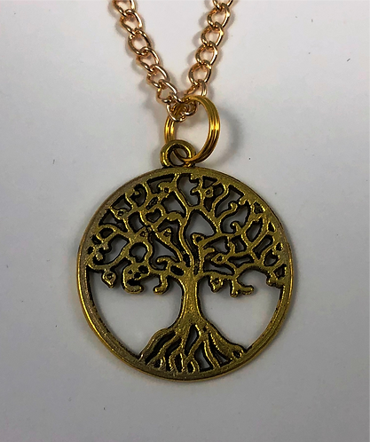 Tree of Life Necklace in Gold color