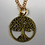 Thumbnail: Tree of Life Necklace in Gold color
