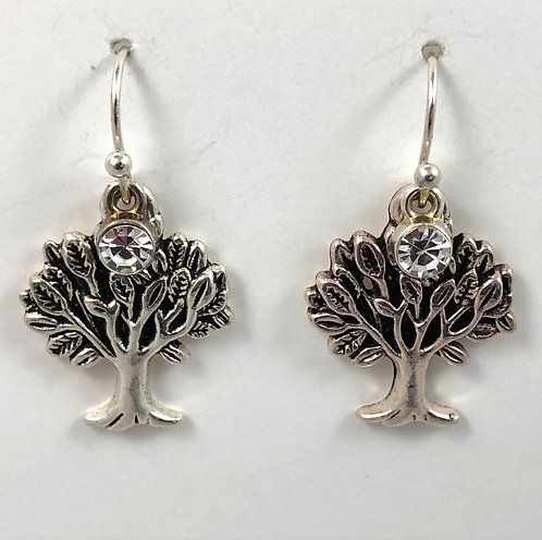 Tree with Bling Earrings