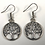 Thumbnail: Open Tree Circle Earrings