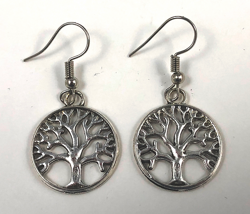 Open Tree Circle Earrings