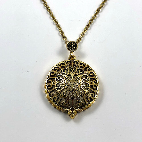 Filigree Necklace with hidden Magnifying Glass