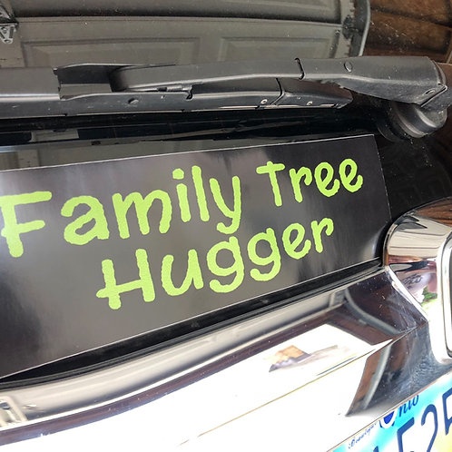 Family Tree Hugger Bumper Sticker