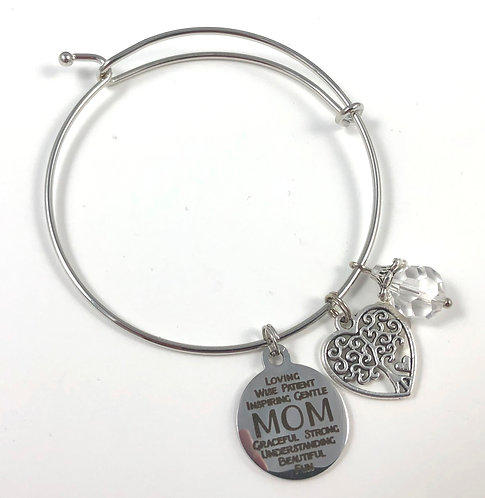 MOM Expandable Bangle Bracelet