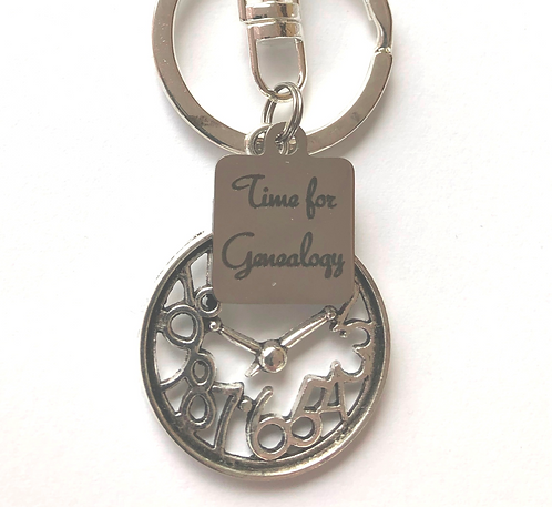 Time for Genealogy Key Chain