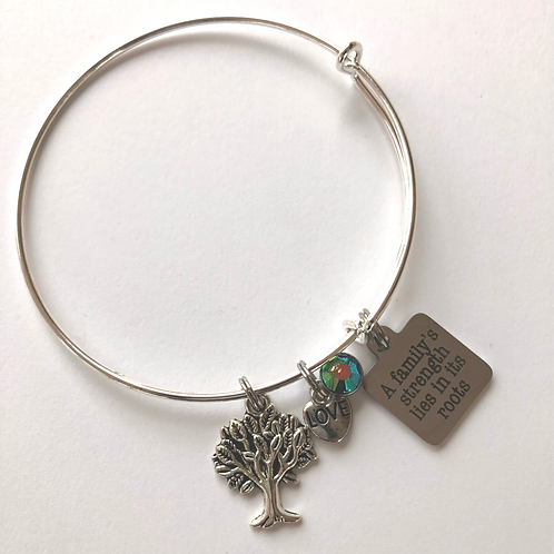 Family Strength - ROOTS Expandable Bangle Bracelet