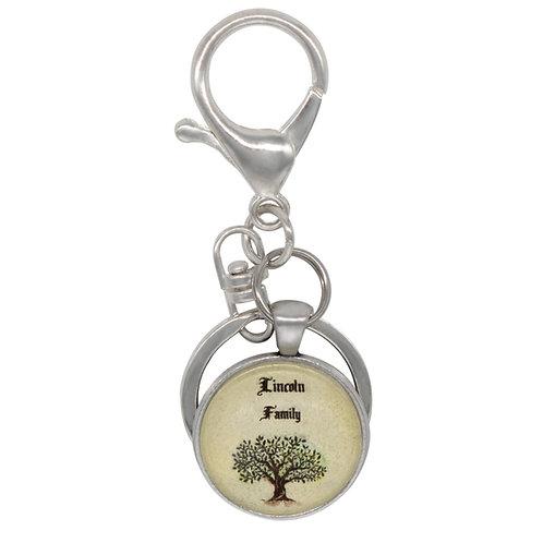 Personalized Family Tree Key Fob