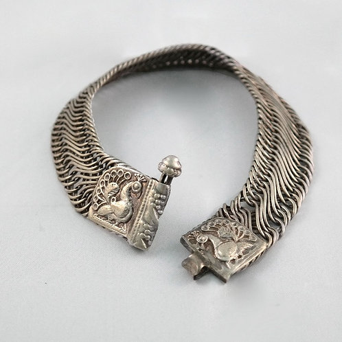 Pair of Silver Anklets from Rajasthan