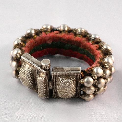 Silver Tribal ´Poochi´ Silver Cuff Bracelet