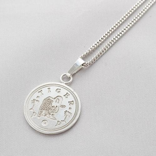LOVE token TIGERPOP large - 'Dutch coin gulden' necklace