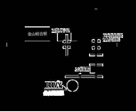 コルギサロンENVY アクセス地図