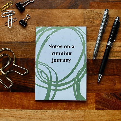 Notes on a Running Journey Notebook