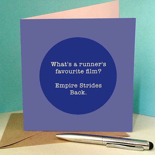 Runner's favourite film card