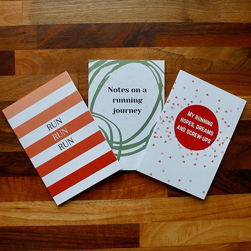 Pack of Three Running Notebooks